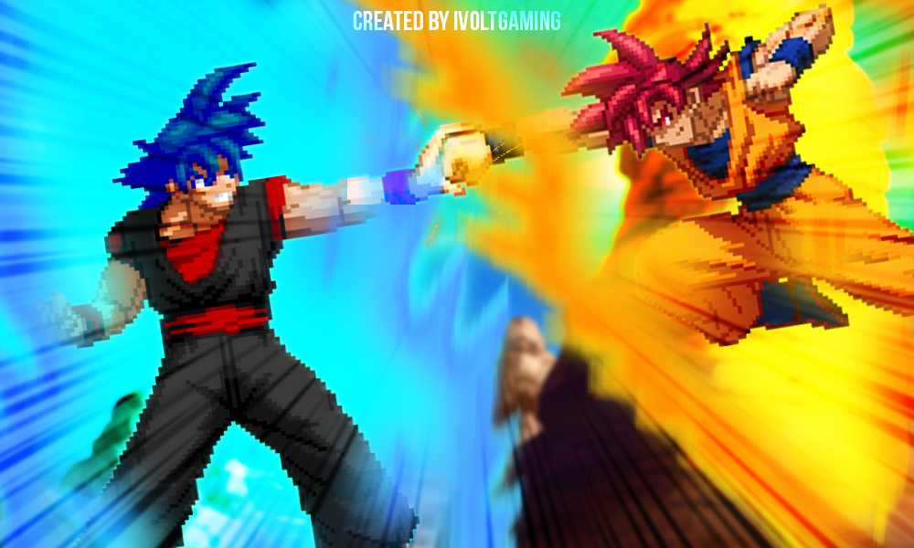 SSG Evil Goku VS SSG Goku By IVoltGaming On DeviantArt