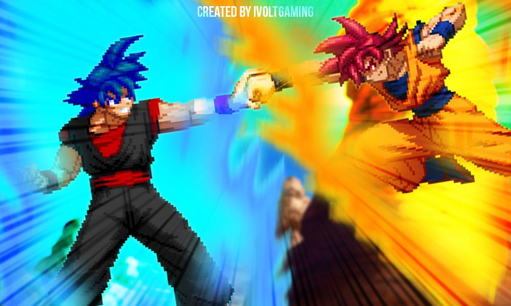 Ssg Evil Goku Vs Ssg Goku By Ivoltgaming On Deviantart