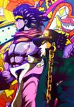 Jotaro and Star Platinum - JoJo's [Fanart]