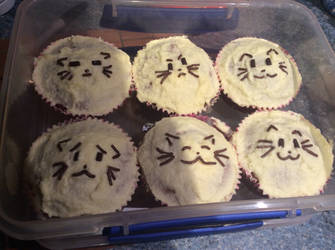 All Kitty Cupcakes by SuperJordanBlast