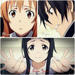 Kirito Asuna and Yui - DeviantART