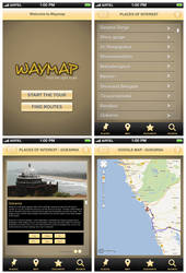 Way Map - iPhone application design by anuparambil