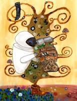 Klimt's mix: Lifetree + Kiss by GiovyLoCa