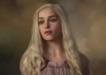 .::com::. Daenerys Targaryen by GiovyLoCa
