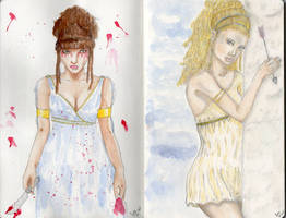 SBP: Medea and Helen of Troy by GiovyLoCa
