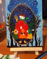 Postcard 1: The Snowman by GiovyLoCa