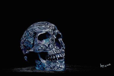 Celtic skull by GiovyLoCa
