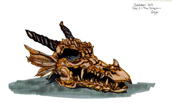 Inktober Day 3 - The Dragon by GiovyLoCa