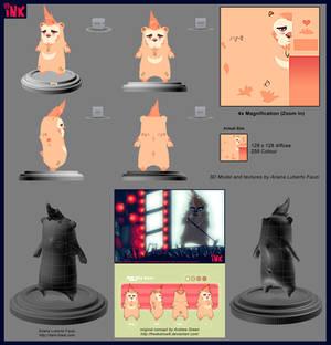 3D Ink the Bear