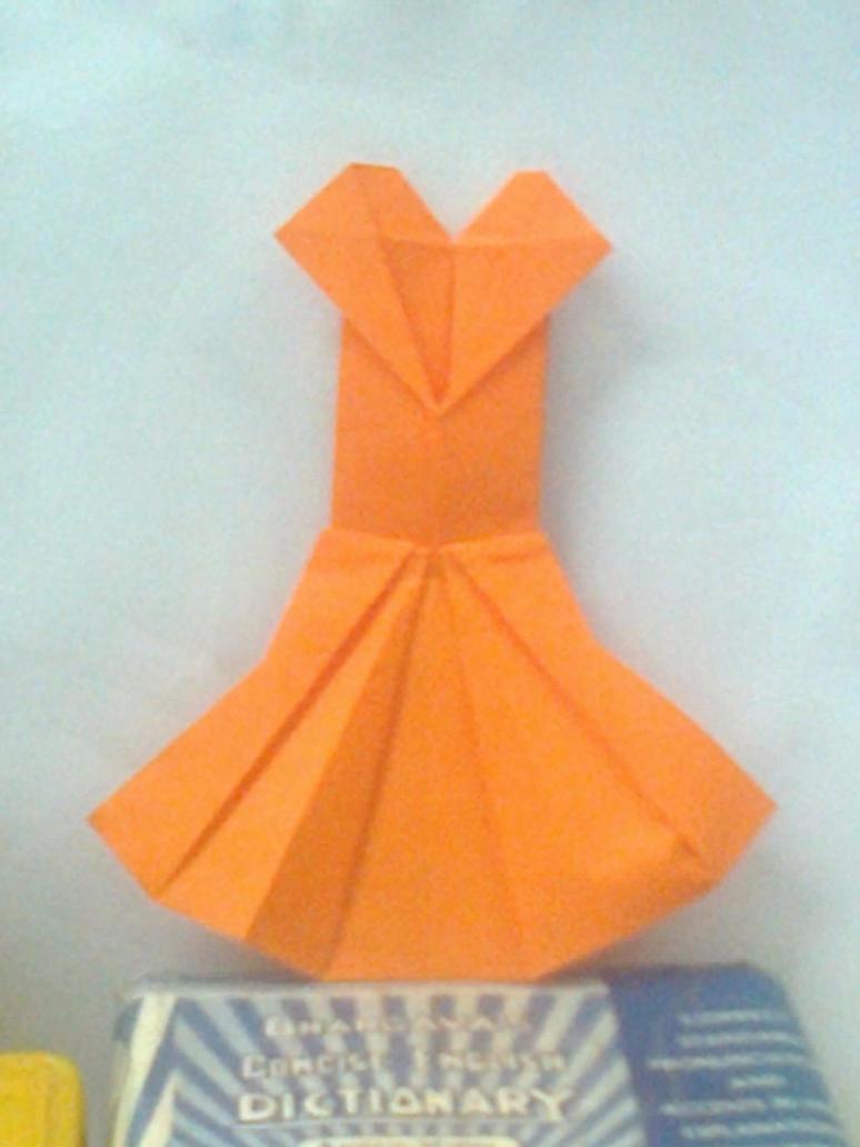 Origami dress by writetopaint on deviantart origami dress by writetopaint jeuxipadfo Choice Image