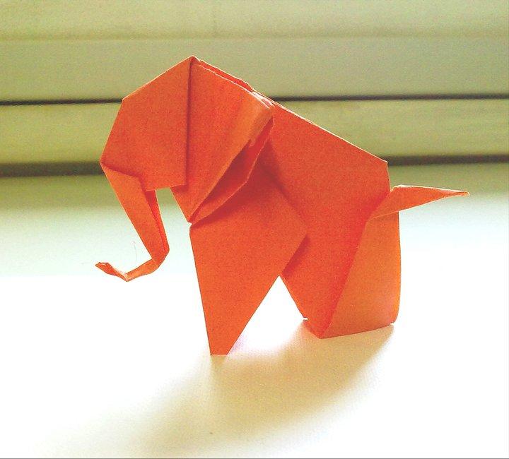 Origami Elephant 2 By Writetopaint On Deviantart