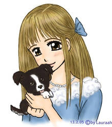 -Girl with Puppy-