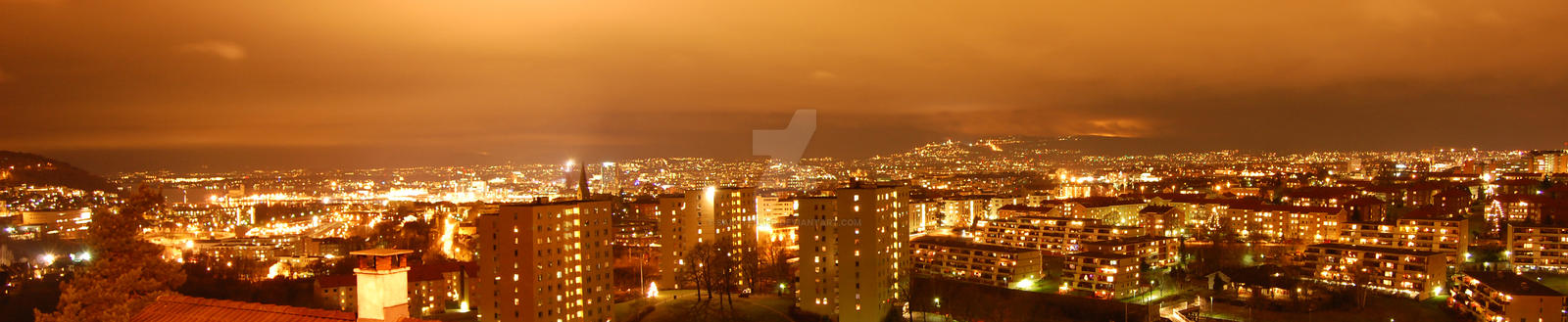Oslo Panorama at night