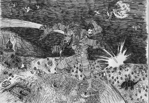 Zhandri Invasion line art