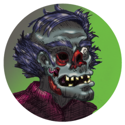 Zombie Pog by wisecracker42