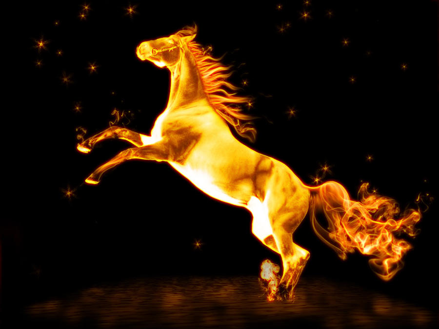A fire heard (FINSHED!)*Pick n play* Fire_horse_by_tedian