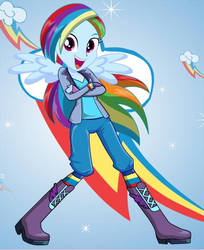 Rainbow Dash eg by lilymouse385