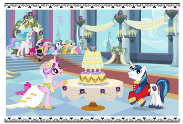 Mlp Royal Wedding Cake by lilymouse385