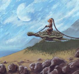 turtle rider by bertoltus