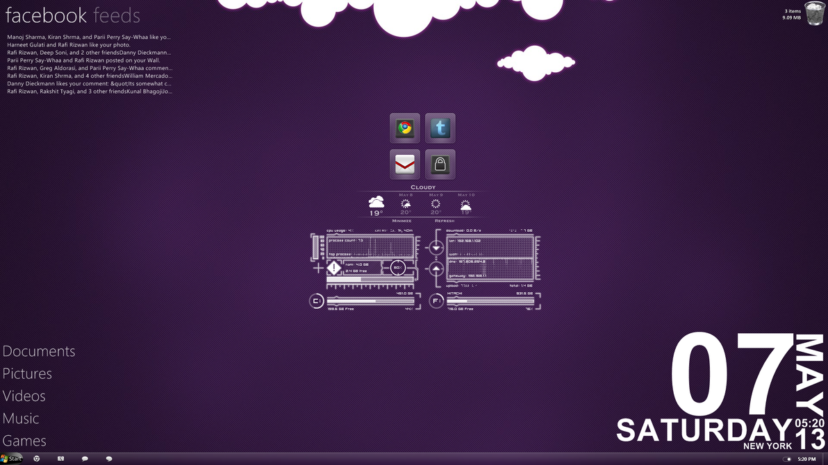 Purple Clouds Desktop by apandhi