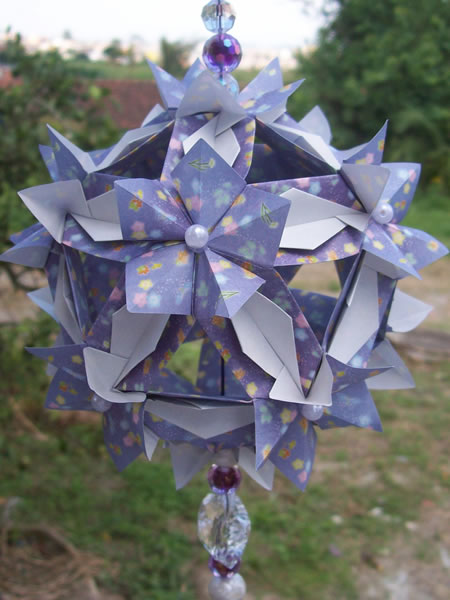 Kusudama Adaga em Flor by sayako-arts