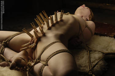 Madison Young Peg's and rope by IanRath