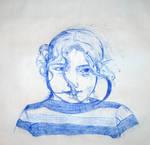 Girl Sketch To Hans Reusink