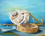 Still Life Wood Anchor Shell