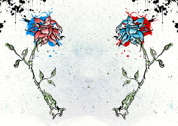 Bloem The_Red_And_Blue_Flowers_by_GMAC06