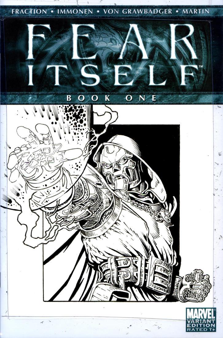 Doctor Doom Inks by jeffreyedwards