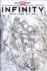 Thanos VS Hulk Pencils