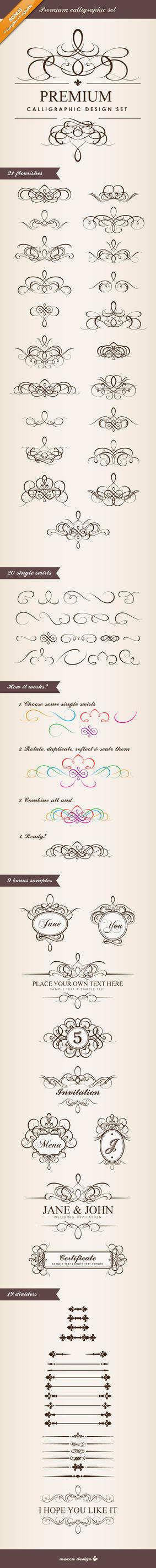 Certificate explore certificate on deviantart premium calligraphic design set by moccadsgn yadclub Image collections