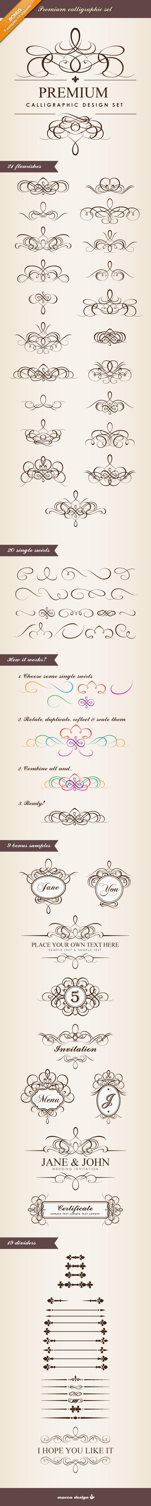 Premium Calligraphic Design Set by moccadsgn