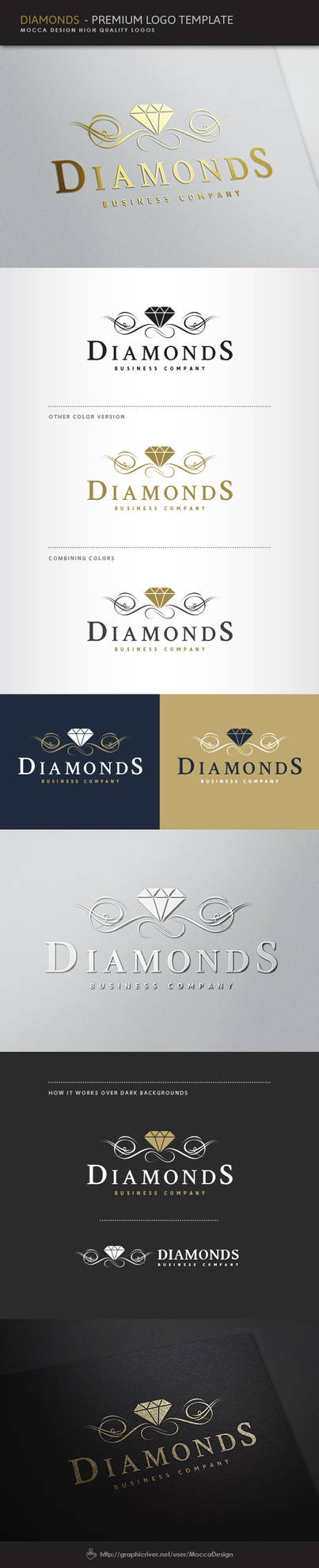 Diamonds Logo by moccadsgn