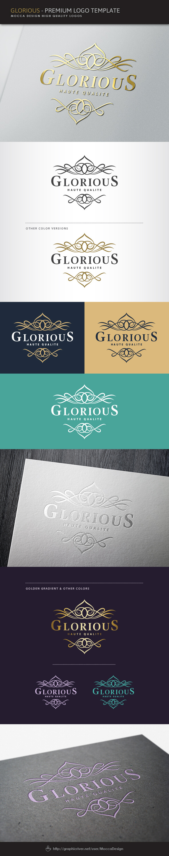 Glorious Logo by moccadsgn