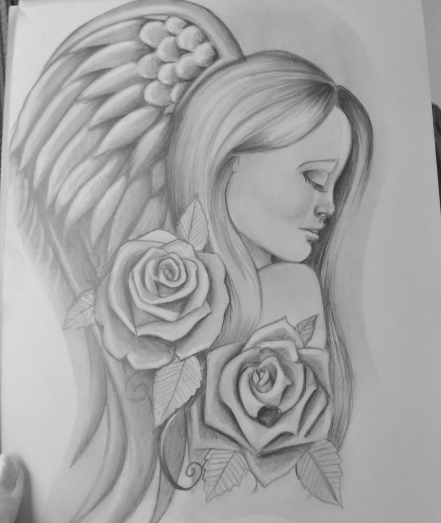 Angel tattoo design by stef g