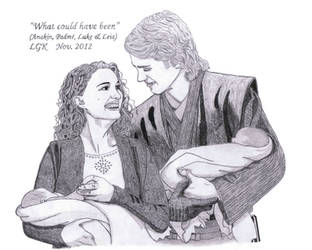 What Could Have Been (Anakin, Padme, Luke, Leia) by ElfofCave