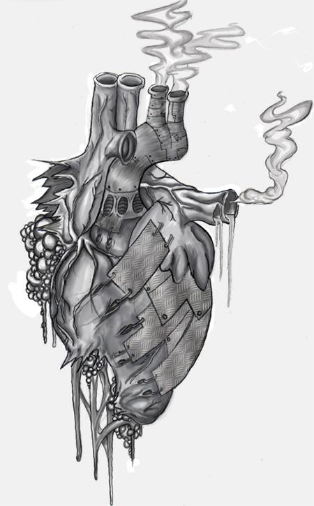 Steampunk Heart Drawings Steampunk Heart