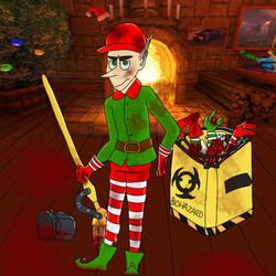 Santa's Little Helper by Sweetsilverowl