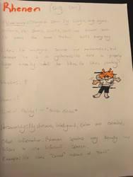 Rhenen's reference sheet