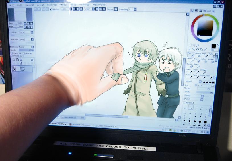 Reverse screen meme by Alikurai