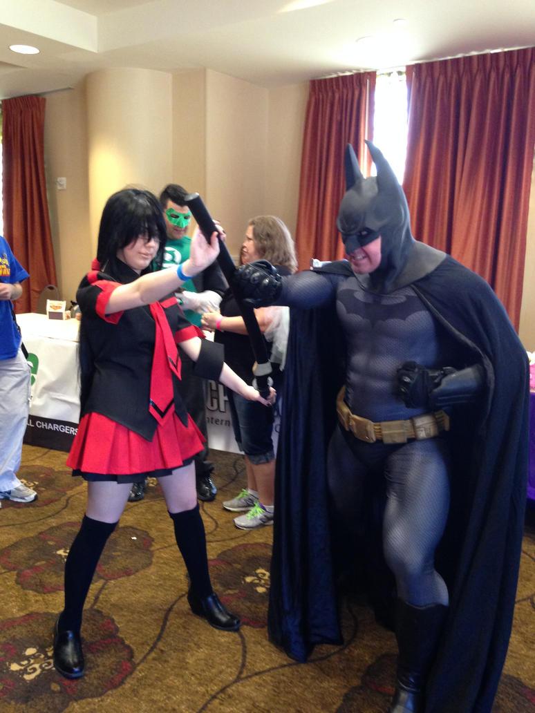 saya vs batman by tfakairi