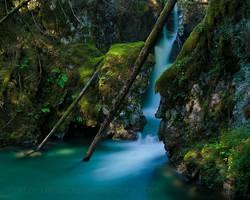 the blue falls