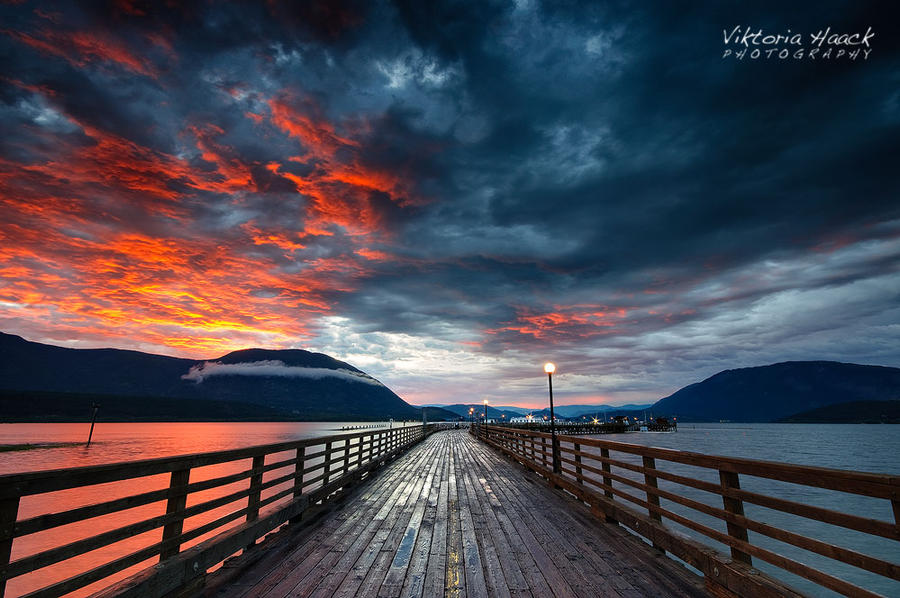 sunset storm by islandtime