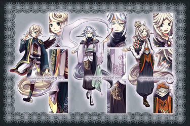 [CLOSED] Fantasy Adopts 3, 4 and 5 by Rejuvenesce