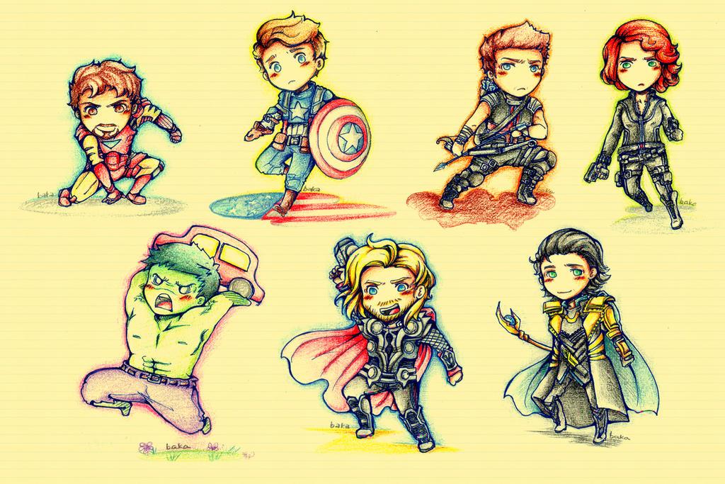 תוצ�ת ת�ונה עבור cute draw avengers�