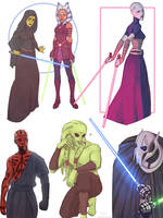 Star Wars doodles by zaffyrr