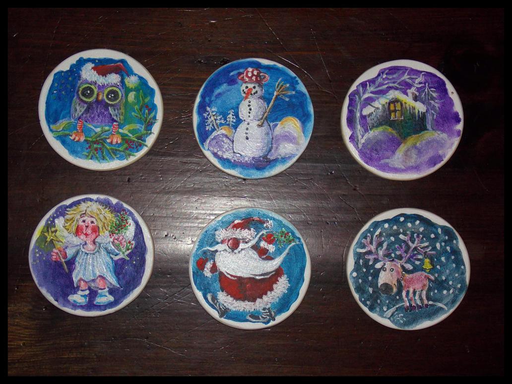 Holiday coasters by natasas