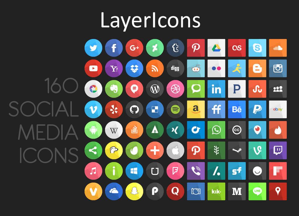LayerIcons Social Media Icons