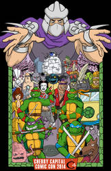 TMNT Cherry Capital Comic Con by abouelse
